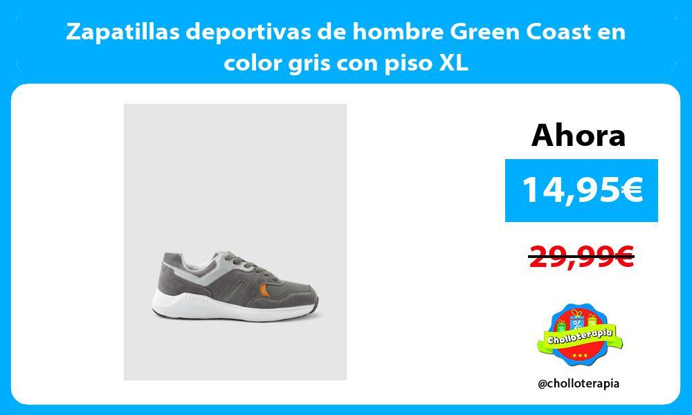 Zapatillas deportivas de hombre Green Coast en color gris con piso XL