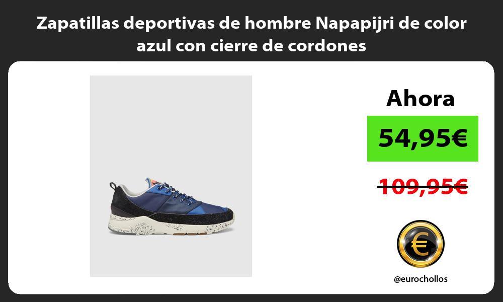 Zapatillas deportivas de hombre Napapijri de color azul con cierre de cordones