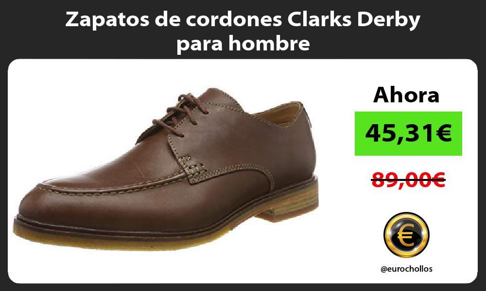 Zapatos de cordones Clarks Derby para hombre
