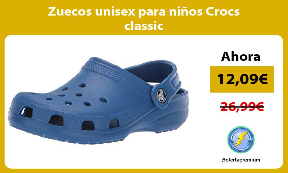 Zuecos unisex para niños Crocs classic