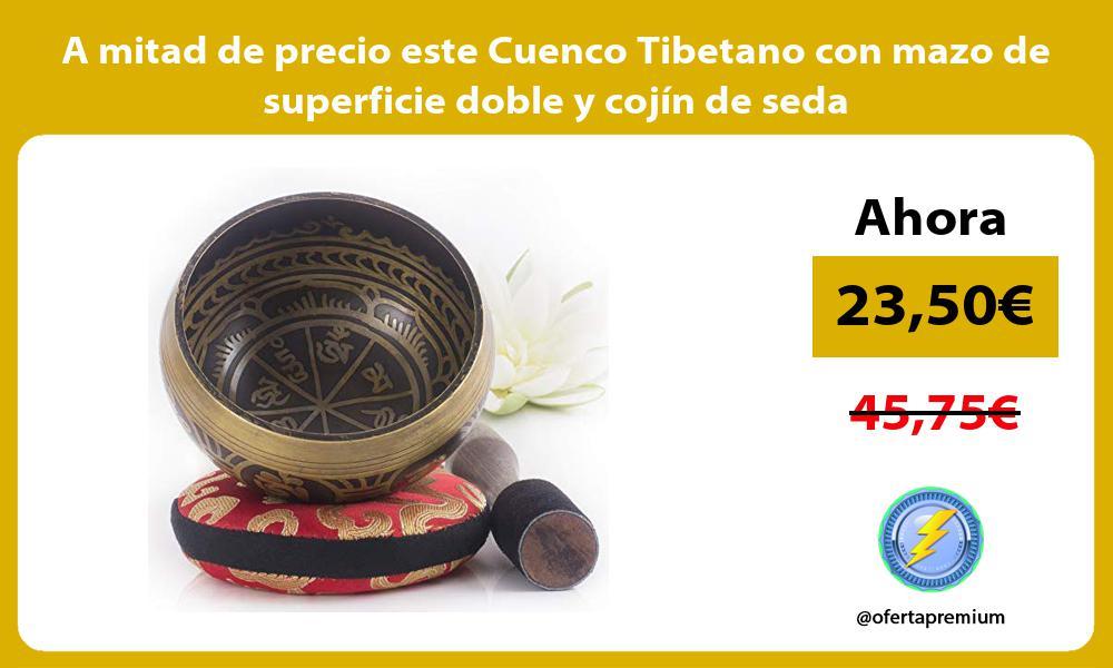 A mitad de precio este Cuenco Tibetano con mazo de superficie doble y cojín de seda