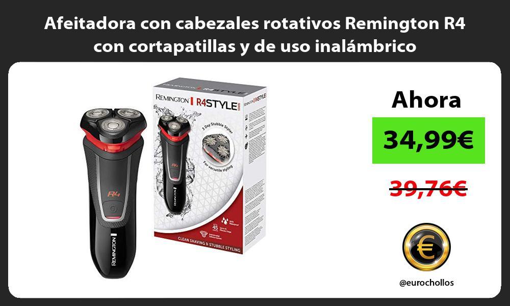 Afeitadora con cabezales rotativos Remington R4 con cortapatillas y de uso inalámbrico
