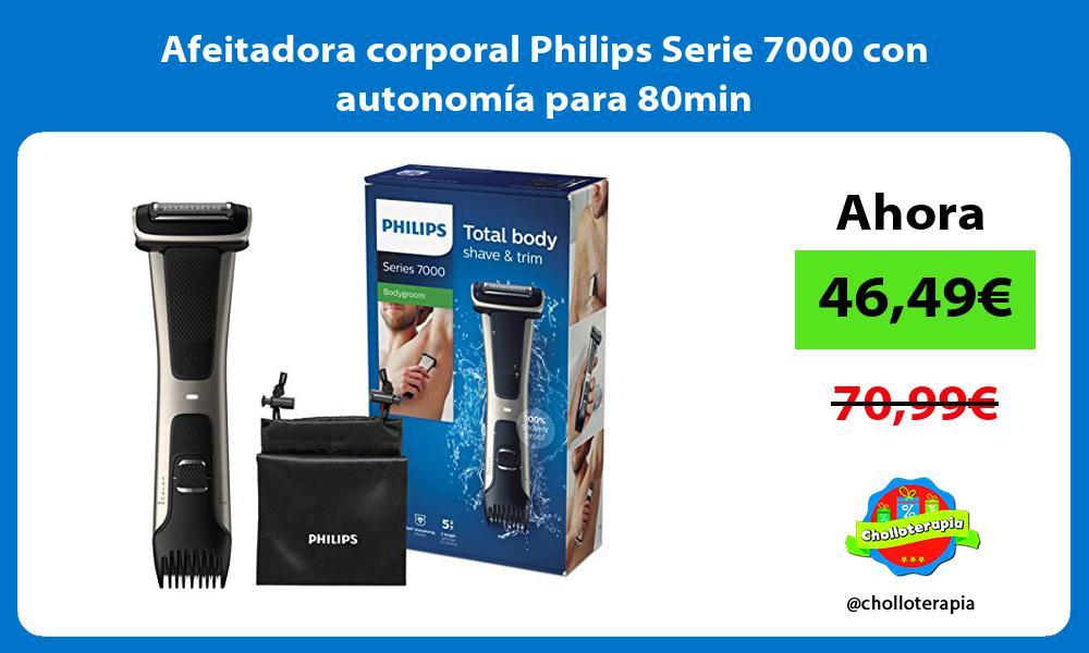 Afeitadora corporal Philips Serie 7000 con autonomía para 80min