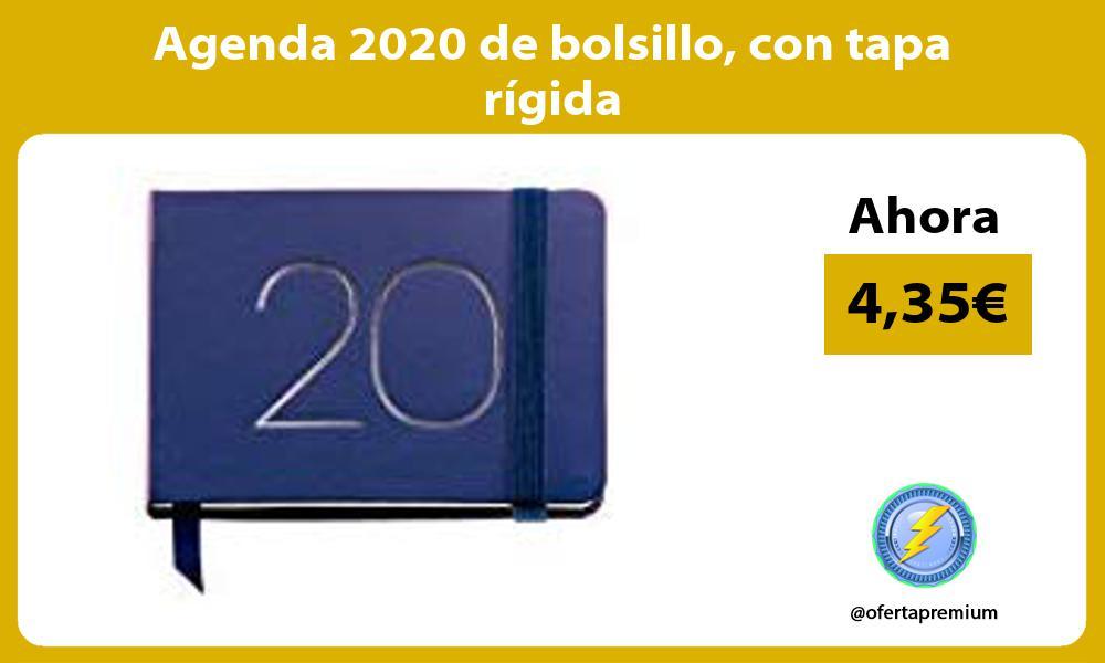 Agenda 2020 de bolsillo con tapa rígida