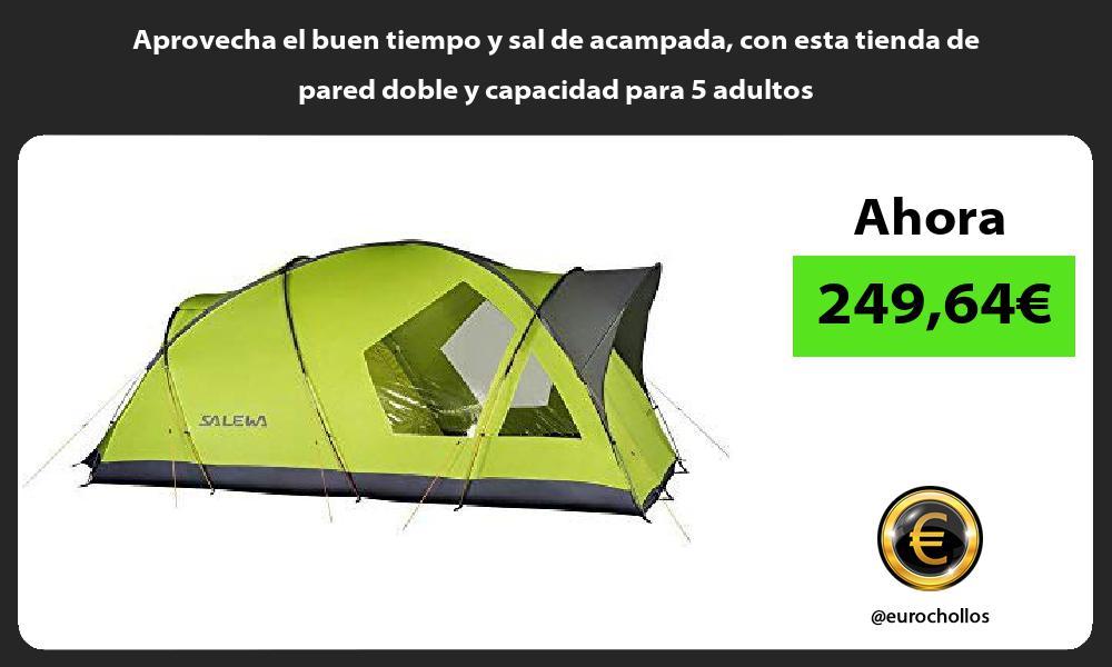 Aprovecha el buen tiempo y sal de acampada con esta tienda de pared doble y capacidad para 5 adultos