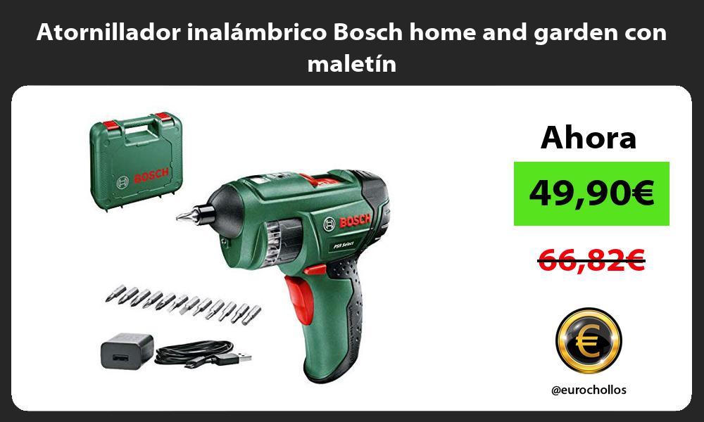 Atornillador inalámbrico Bosch home and garden con maletín
