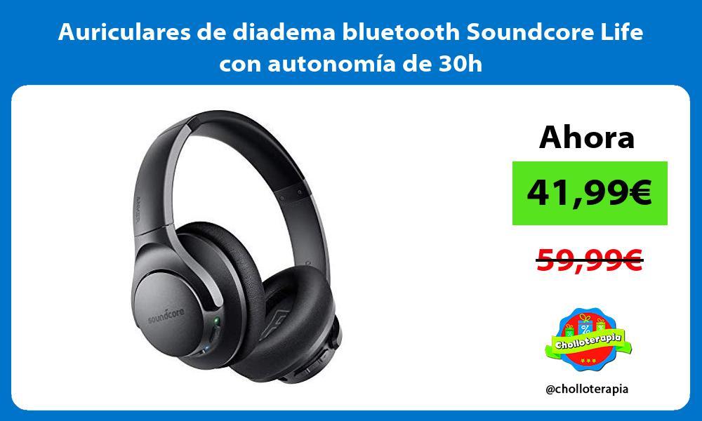 Auriculares de diadema bluetooth Soundcore Life con autonomía de 30h