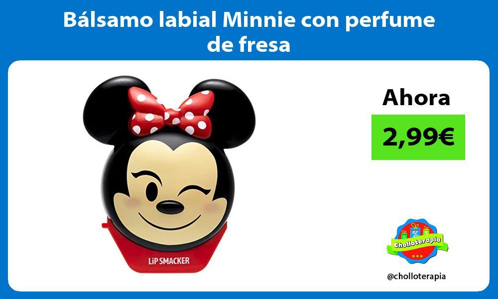 Bálsamo labial Minnie con perfume de fresa