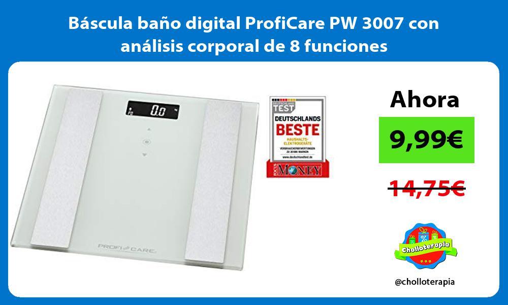 Báscula baño digital ProfiCare PW 3007 con análisis corporal de 8 funciones