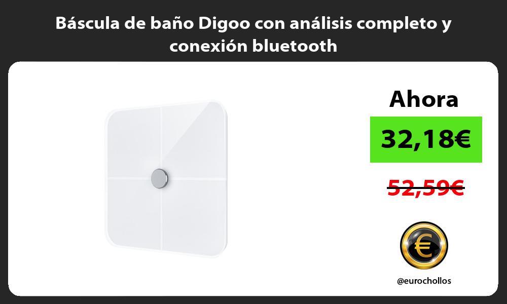 Báscula de baño Digoo con análisis completo y conexión bluetooth