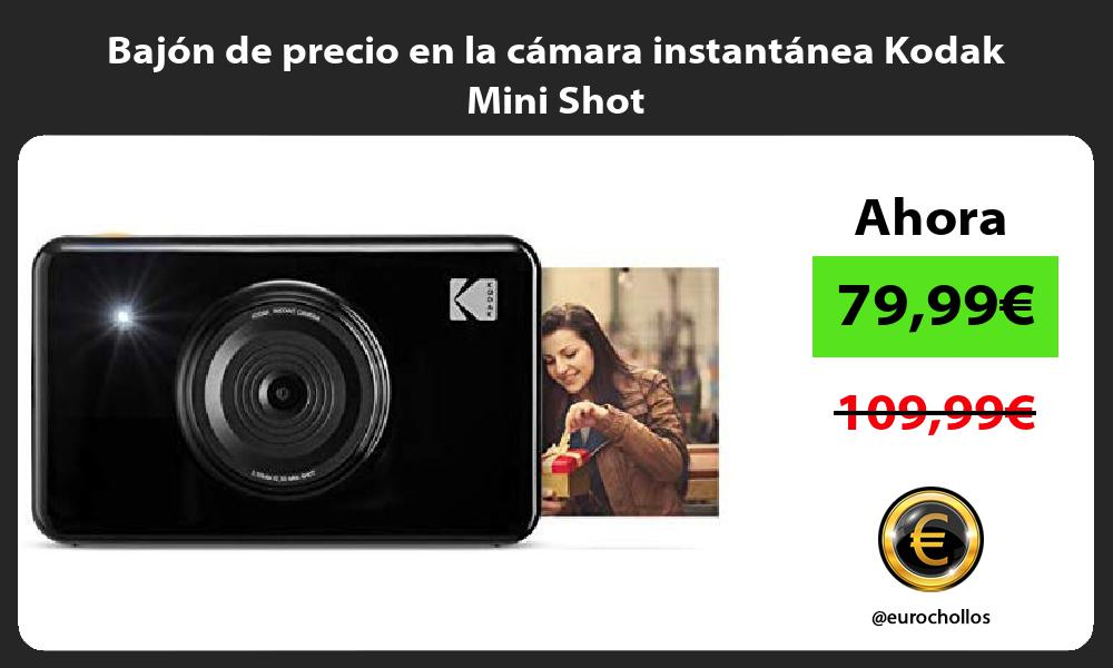 Bajón de precio en la cámara instantánea Kodak Mini Shot