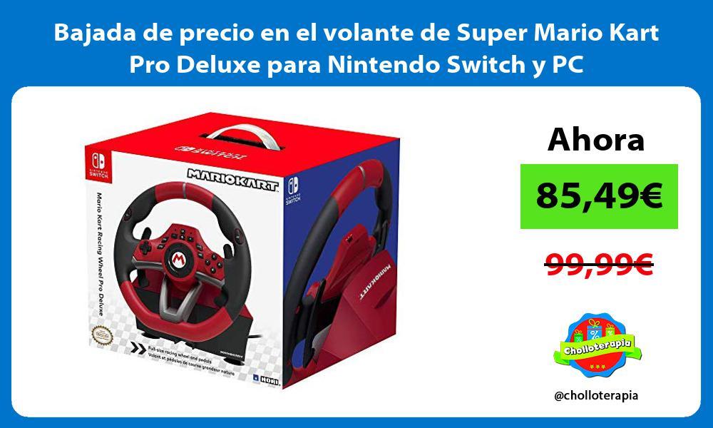 Bajada de precio en el volante de Super Mario Kart Pro Deluxe para Nintendo Switch y PC