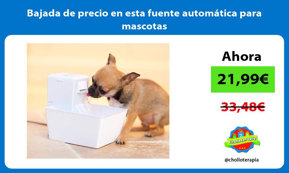 Bajada de precio en esta fuente automática para mascotas