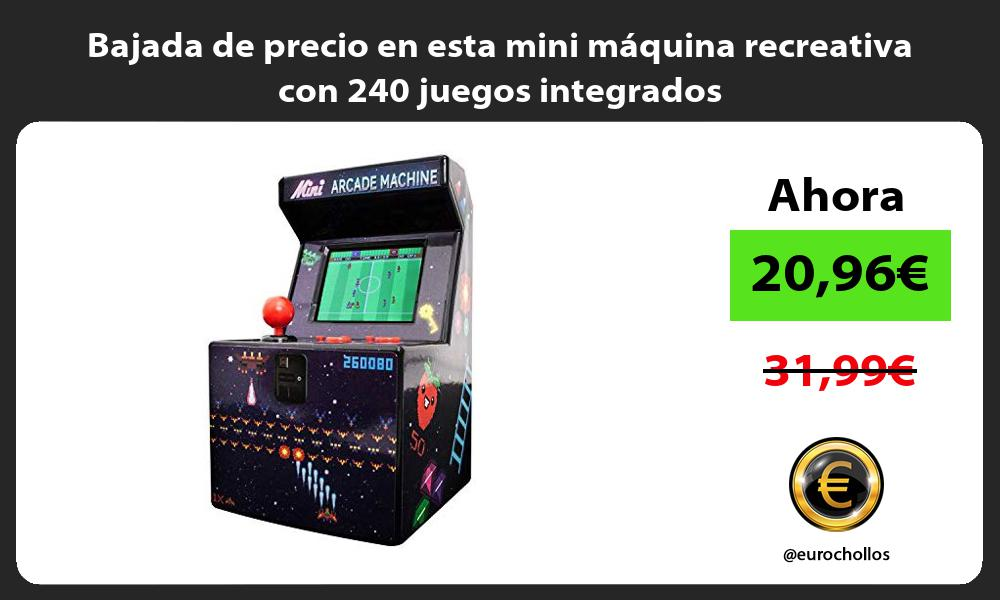 Bajada de precio en esta mini máquina recreativa con 240 juegos integrados