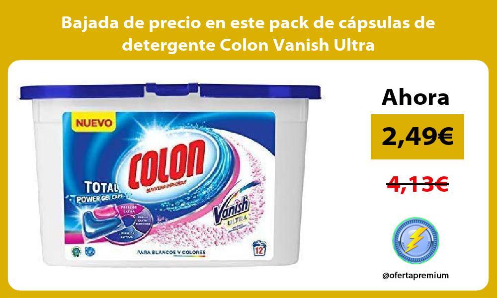 Bajada de precio en este pack de cápsulas de detergente Colon Vanish Ultra
