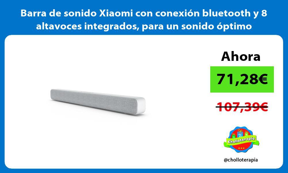 Barra de sonido Xiaomi con conexión bluetooth y 8 altavoces integrados para un sonido óptimo