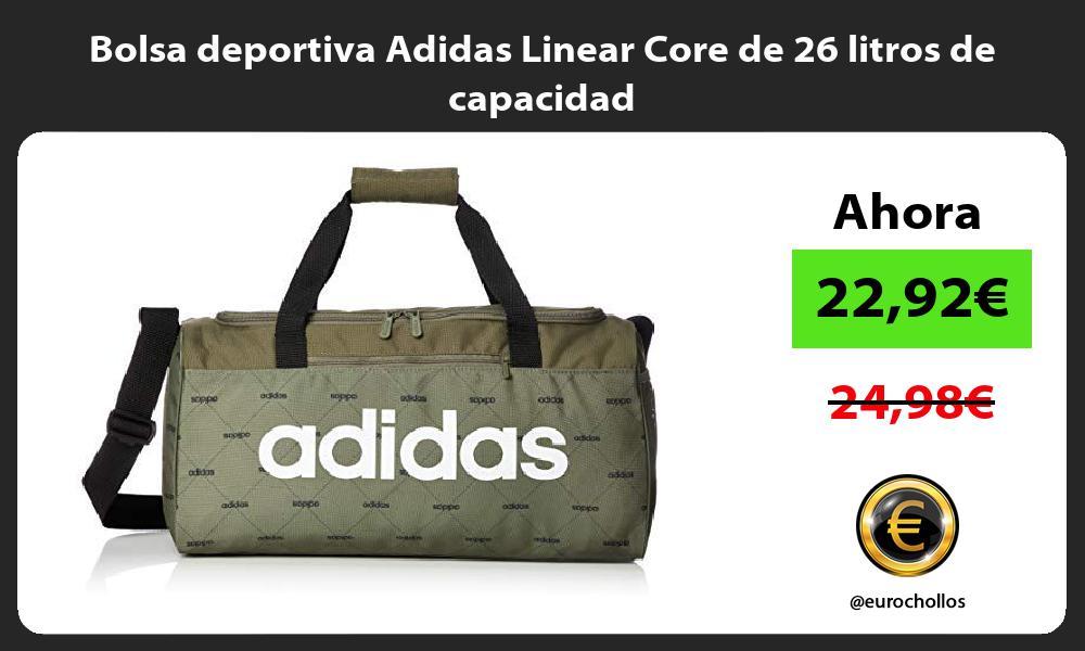 Bolsa deportiva Adidas Linear Core de 26 litros de capacidad