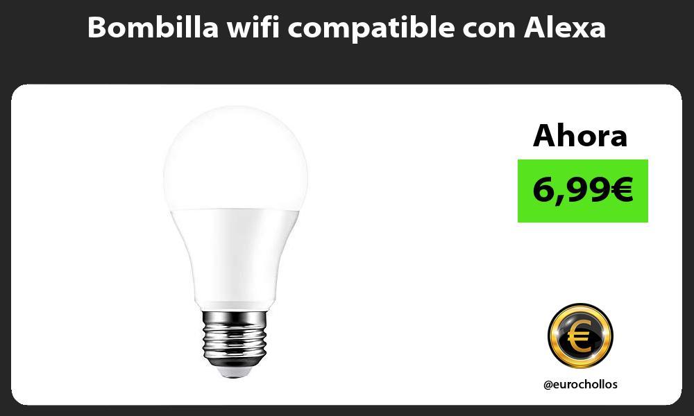 Bombilla wifi compatible con Alexa