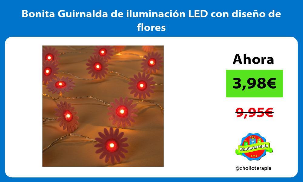 Bonita Guirnalda de iluminación LED con diseño de flores