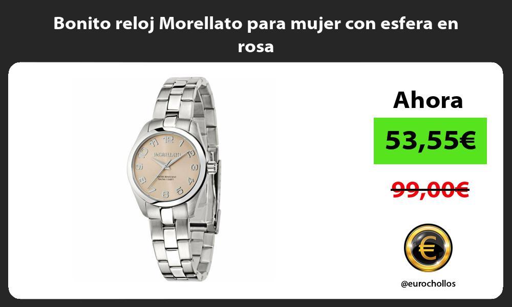 Bonito reloj Morellato para mujer con esfera en rosa