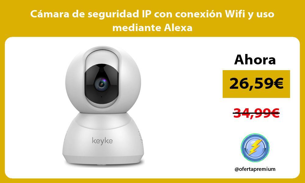 Cámara de seguridad IP con conexión Wifi y uso mediante Alexa