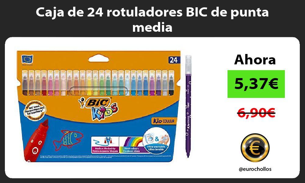 Caja de 24 rotuladores BIC de punta media