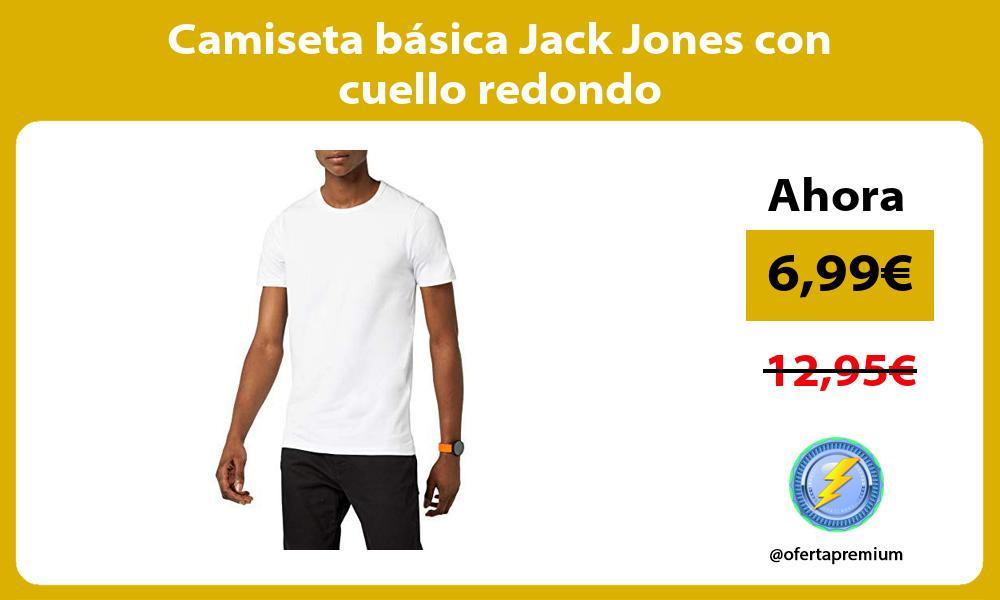 Camiseta básica Jack Jones con cuello redondo
