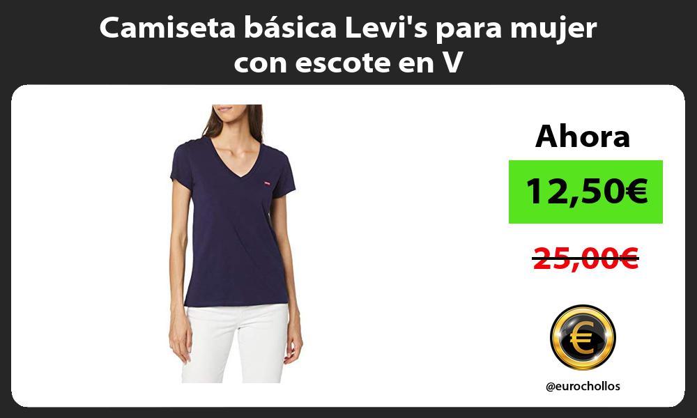 Camiseta básica Levis para mujer con escote en V
