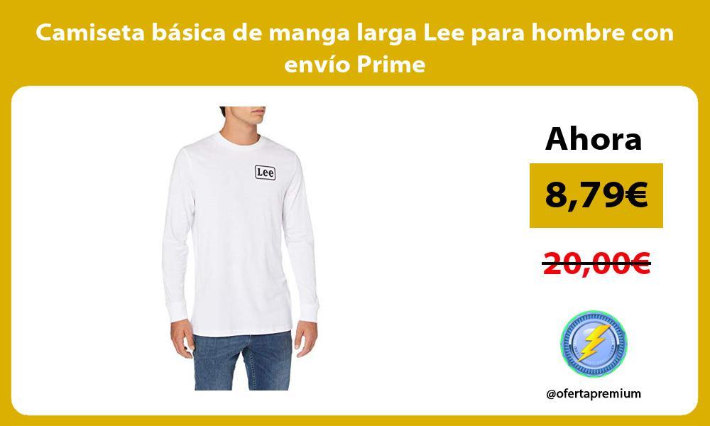 Camiseta básica de manga larga Lee para hombre con envío Prime