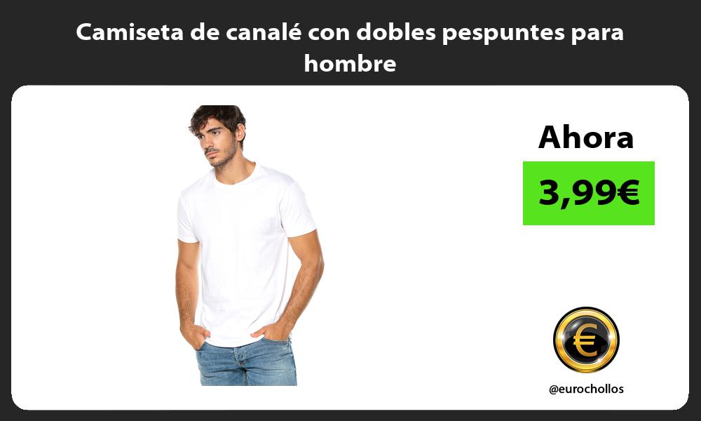 Camiseta de canalé con dobles pespuntes para hombre