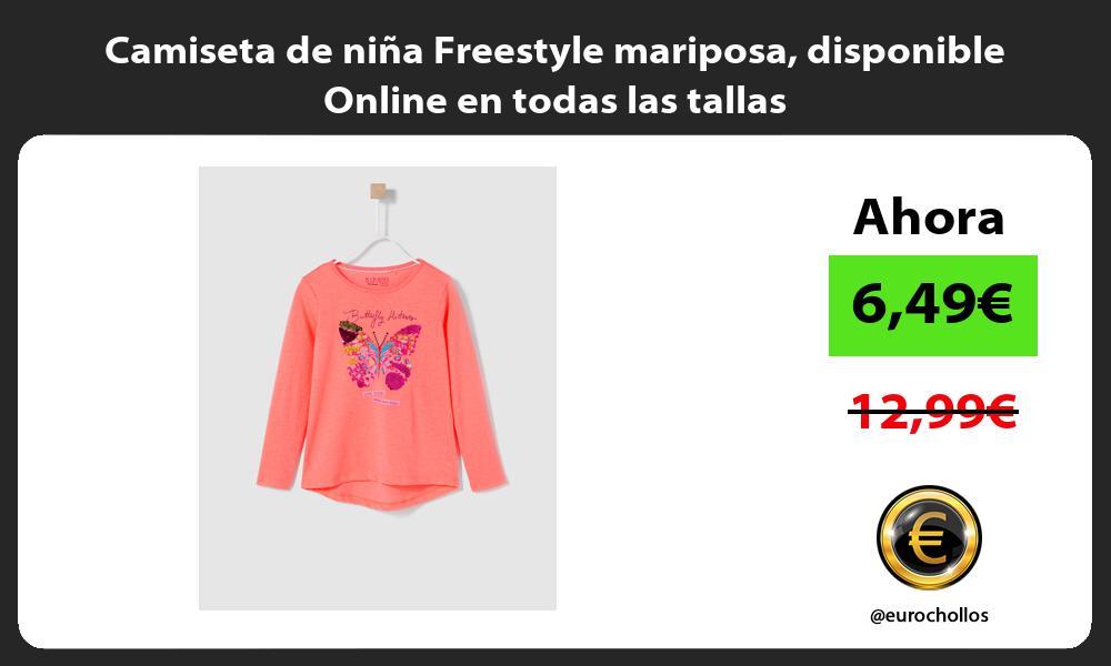 Camiseta de niña Freestyle mariposa disponible Online en todas las tallas