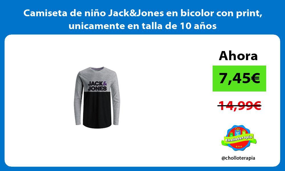 Camiseta de niño JackJones en bicolor con print unicamente en talla de 10 años