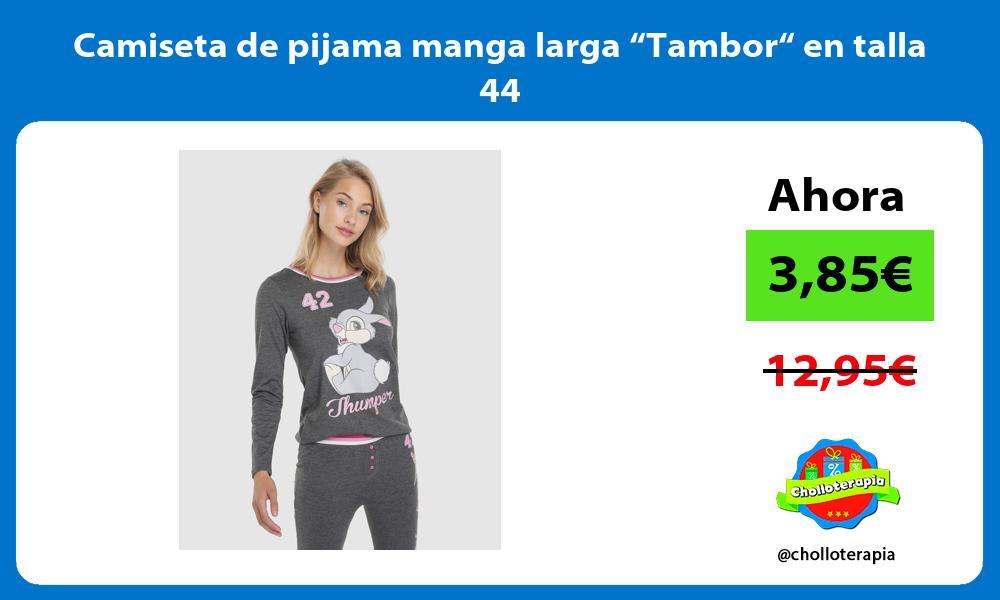 "Camiseta de pijama manga larga ""Tambor"" en talla 44"