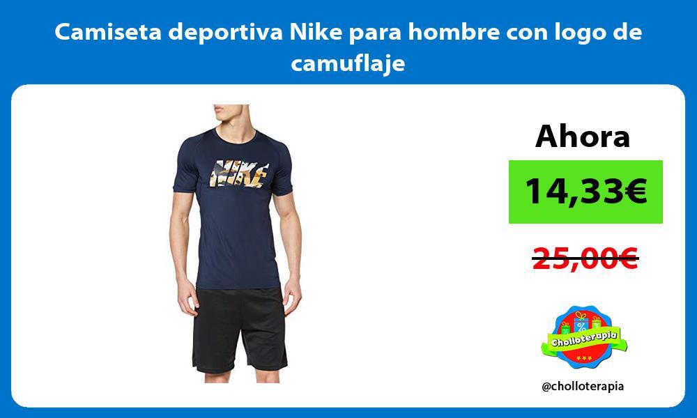 Camiseta deportiva Nike para hombre con logo de camuflaje