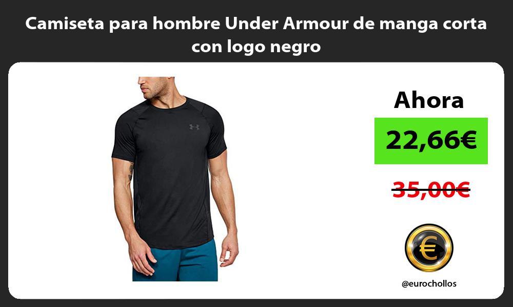 Camiseta para hombre Under Armour de manga corta con logo negro