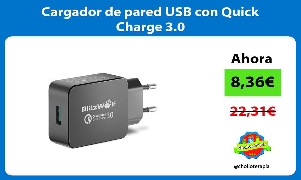 Cargador de pared USB con Quick Charge 3 0