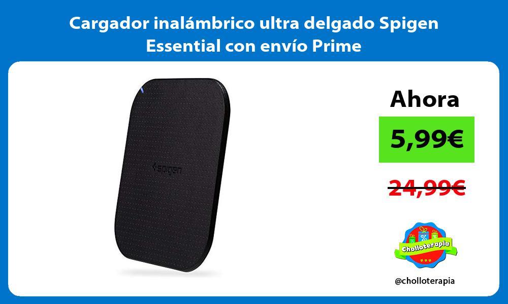 Cargador inalámbrico ultra delgado Spigen Essential con envío Prime