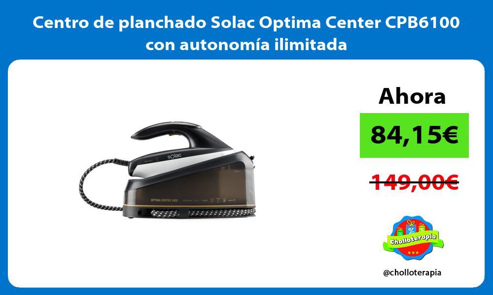Centro de planchado Solac Optima Center CPB6100 con autonomía ilimitada