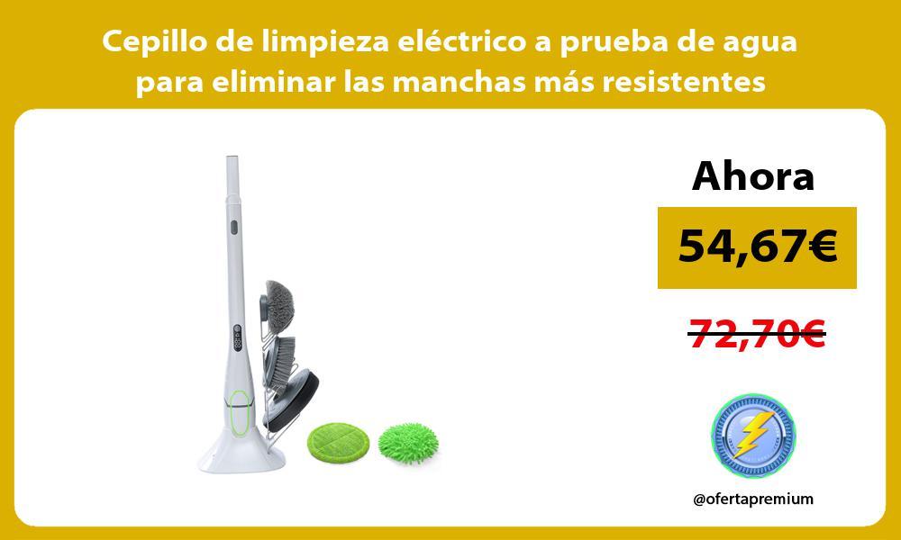 Cepillo de limpieza eléctrico a prueba de agua para eliminar las manchas más resistentes