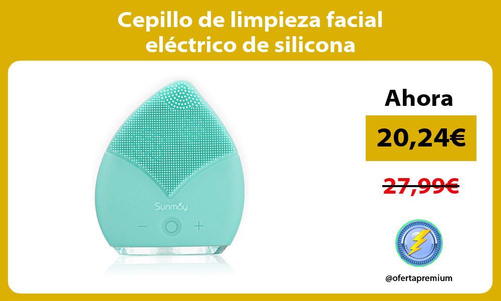 Cepillo de limpieza facial eléctrico de silicona