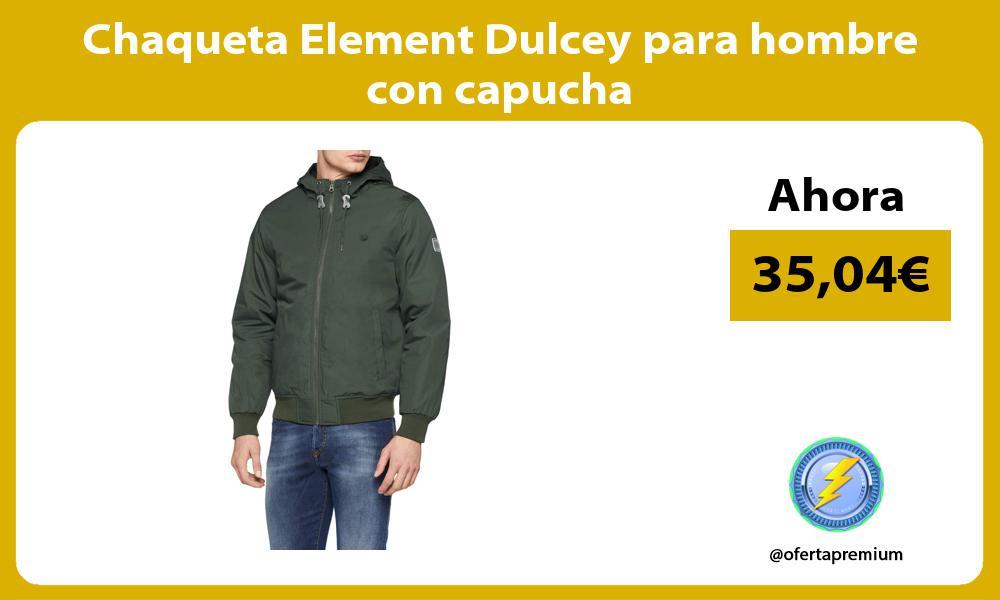 Chaqueta Element Dulcey para hombre con capucha
