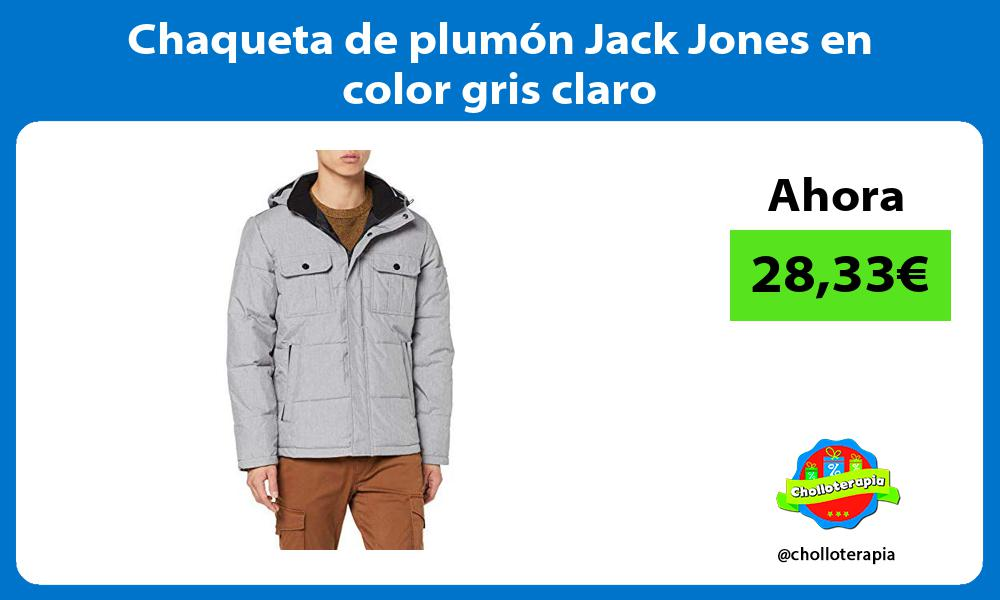 Chaqueta de plumón Jack Jones en color gris claro