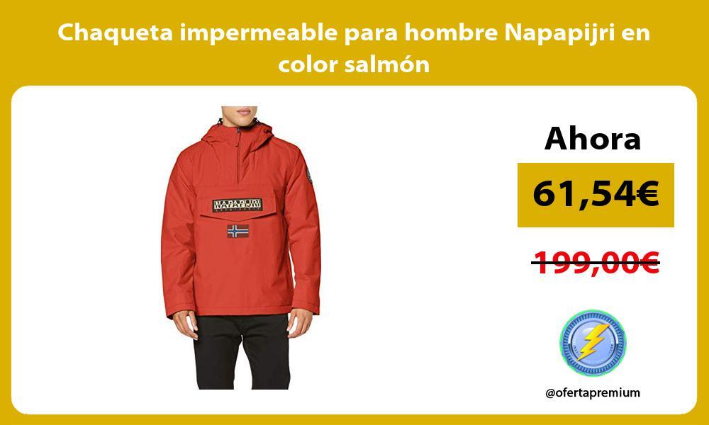 Chaqueta impermeable para hombre Napapijri en color salmón