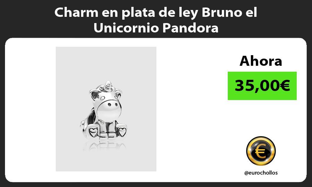 Charm en plata de ley Bruno el Unicornio Pandora