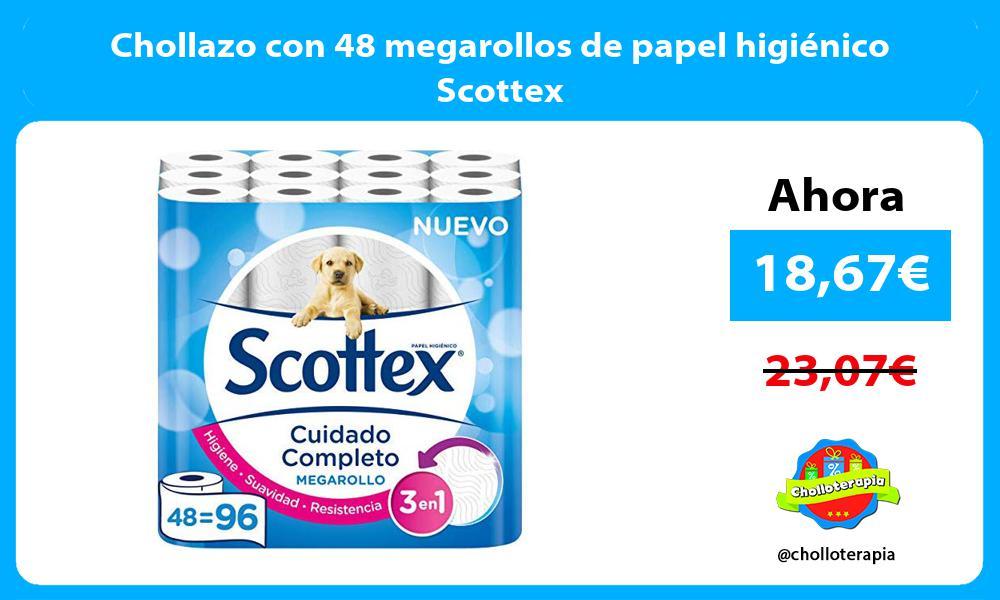 Chollazo con 48 megarollos de papel higiénico Scottex