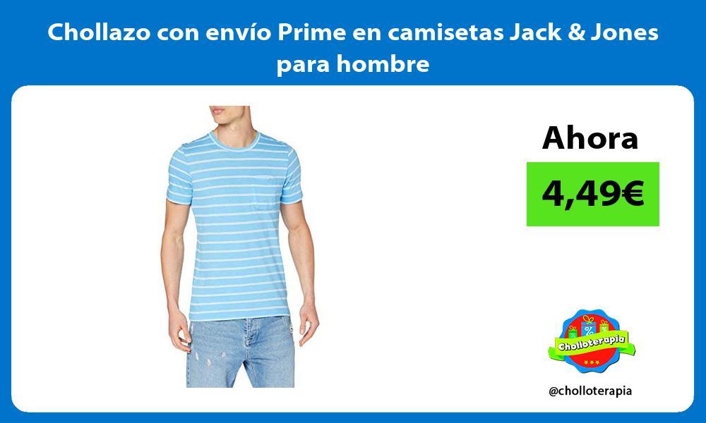 Chollazo con envío Prime en camisetas Jack Jones para hombre
