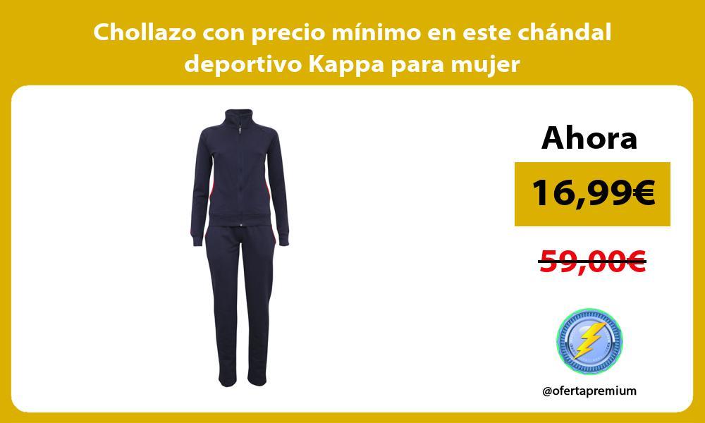 Chollazo con precio mínimo en este chándal deportivo Kappa para mujer