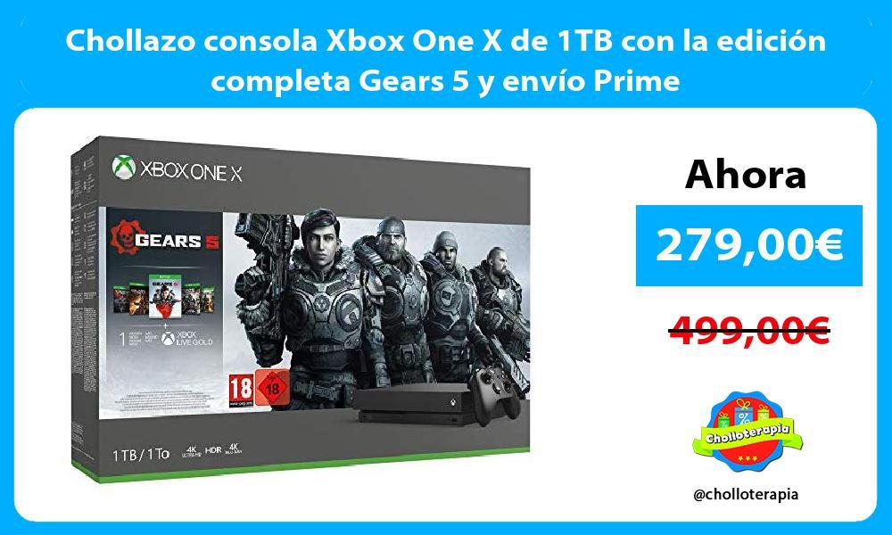 Chollazo consola Xbox One X de 1TB con la edición completa Gears 5 y envío Prime