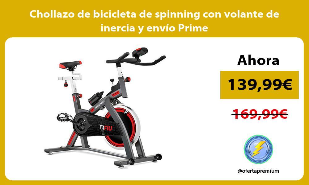 Chollazo de bicicleta de spinning con volante de inercia y envío Prime