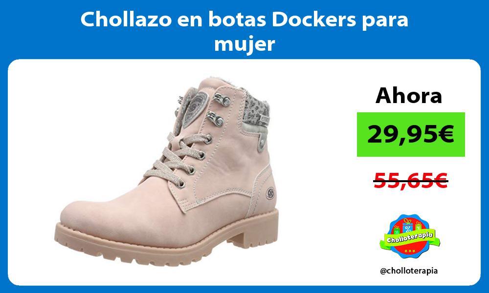Chollazo en botas Dockers para mujer